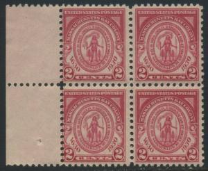 USA Michel 324 / Scott 682 postfrisch BLOCK RÄNDER links (a1) - 300. Jahrestag der Gründung der Massachusetts Bay Colony