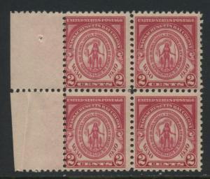 USA Michel 324 / Scott 682 postfrisch BLOCK RÄNDER links (a2) - 300. Jahrestag der Gründung der Massachusetts Bay Colony