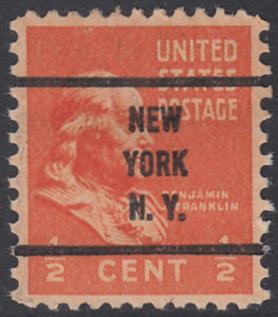 USA Michel 410 / Scott 803 postfrisch EINZELMARKE precancelled - Präsidenten der USA: Benjamin Franklin, Politiker und Schriftsteller