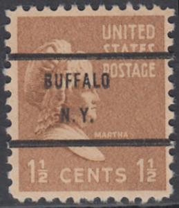 USA Michel 412 / Scott 805 postfrisch EINZELMARKE precancelled - Präsidenten der USA: Martha Washington