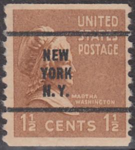 USA Michel 412C / Scott 840 postfrisch EINZELMARKE precancelled (a1) - Präsidenten der USA: Martha Washington