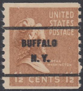 USA Michel 412C / Scott 840 postfrisch EINZELMARKE precancelled (a2) - Präsidenten der USA: Martha Washington