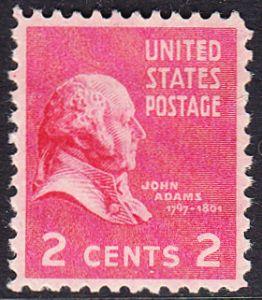 USA Michel 413 / Scott 806 postfrisch EINZELMARKE (a1) - Präsidenten der USA: John Adams, 2. Präsident