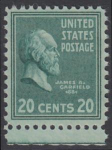USA Michel 432 / Scott 825 postfrisch EINZELMARKE RAND unten - Präsidenten der USA: James A. Garfield, 20. Präsident