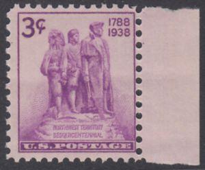 USA Michel 445 / Scott 837 postfrisch EINZELMARKE RAND rechts - 150. Jahrestag der Einsetzung einer Zivilverwaltung für das Nordwest-Territorium