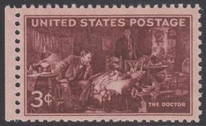 USA Michel 558 / Scott 949 postfrisch EINZELMARKE RAND links (a1) - 100 Jahre Ärzte-Vereinigung