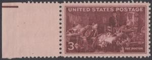 USA Michel 558 / Scott 949 postfrisch EINZELMARKE RAND links (a2) - 100 Jahre Ärzte-Vereinigung