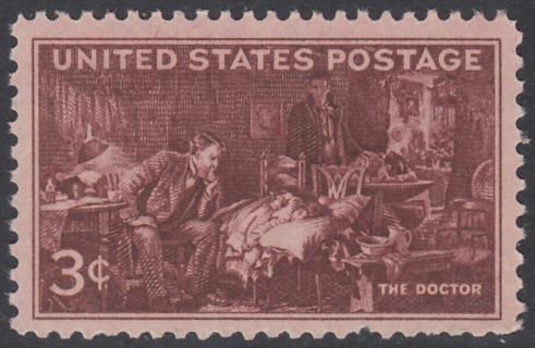 USA Michel 558 / Scott 949 postfrisch EINZELMARKE- 100 Jahre Ärzte-Vereinigung