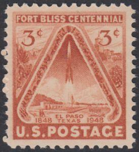 USA Michel 589 / Scott 976 postfrisch EINZELMARKE - 100 Jahre Fort Bliss bei El Paso, Texas; Start einer Rakete