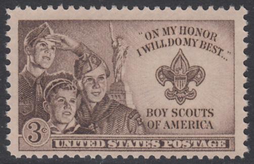 USA Michel 613 / Scott 995 postfrisch EINZELMARKE - 2. nationales Pfadfinder-Jugendtreffen in Valley Forge