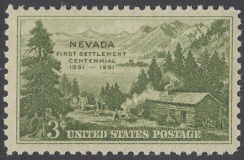 USA Michel 617 / Scott 999 postfrisch EINZELMARKE - 100 Jahre Besiedlung des Staates Nevada: Carson Valley (1851)