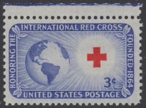 USA Michel 635 / Scott 1016 postfrisch EINZELMARKE RAND oben - Internationales Rotes Kreuz