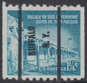 USA Michel 652 / Scott 1031A postfrisch EINZELMARKE precancelled (a1) - Bedeutende Amerikaner, Bauwerke: Palast des Gouverneurs in Santa Fe, NM