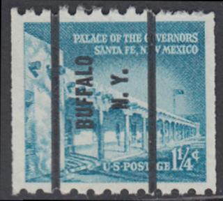 USA Michel 652 / Scott 1031A postfrisch EINZELMARKE precancelled (a4) - Bedeutende Amerikaner, Bauwerke: Palast des Gouverneurs in Santa Fe, NM