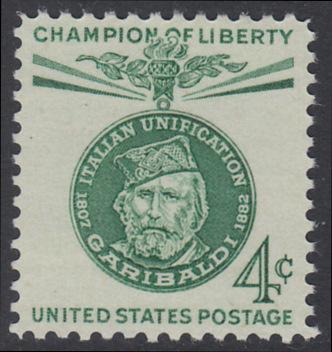 USA Michel 798 / Scott 1168 postfrisch EINZELMARKE - Freiheitskämpfer: Giuseppe Garibaldi, italienischer Freiheitskämpfer und Politiker