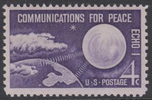 USA Michel 803 / Scott 1173 postfrisch EINZELMARKE - Echo I - Nachrichtenverbindungen für den Frieden