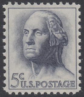 USA Michel 817 / Scott 1213 postfrisch EINZELMARKE - Berühmte Amerikaner: George Washington, 1. Präsident