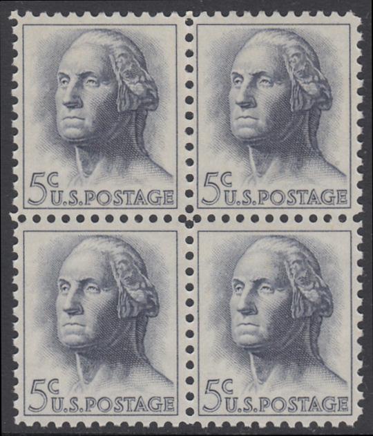 USA Michel 817 / Scott 1213 postfrisch BLOCK - Berühmte Amerikaner: George Washington, 1. Präsident
