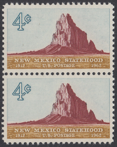 USA Michel 820 / Scott 1191 postfrisch vert.PAAR - 50 Jahre Staat New Mexiko; Felsformation Shiprock