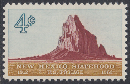 USA Michel 820 / Scott 1191 postfrisch EINZELMARKE - 50 Jahre Staat New Mexiko; Felsformation Shiprock
