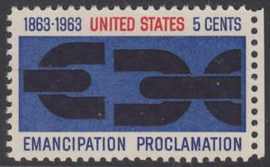 USA Michel 846 / Scott 1233 postfrisch EINZELMARKE RAND rechts - 100. Jahrestag der Verkündung der bürgerlichen Gleichstellung durch Abraham Lincoln