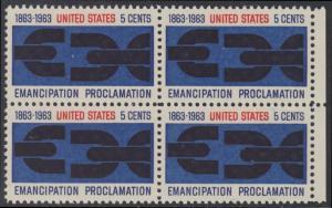 USA Michel 846 / Scott 1233 postfrisch BLOCK RÄNDER rechts - 100. Jahrestag der Verkündung der bürgerlichen Gleichstellung durch Abraham Lincoln