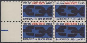 USA Michel 846 / Scott 1233 postfrisch BLOCK RÄNDER links - 100. Jahrestag der Verkündung der bürgerlichen Gleichstellung durch Abraham Lincoln