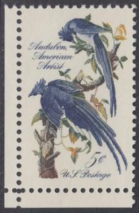 USA Michel 854 / Scott 1241 postfrisch EINZELMARKE ECKRAND unten links - John James Audubon; Zeichner und Ornithologe