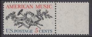USA Michel 867 / Scott 1252 postfrisch EINZELMARKE RAND rechts - Amerikanische Musik; 50 Jahre Amerikanische Vereinigung der Komponisten, Textdichter und Verleger (ASCAP)