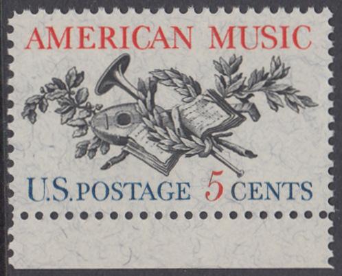 USA Michel 867 / Scott 1252 postfrisch EINZELMARKE RAND unten - Amerikanische Musik; 50 Jahre Amerikanische Vereinigung der Komponisten, Textdichter und Verleger (ASCAP)