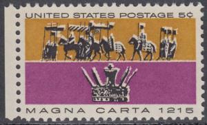 USA Michel 881 / Scott 1265 postfrisch EINZELMARKE RAND links - 750. Jahrestag der Erklärung der Magna Carta