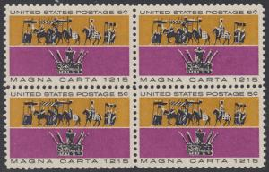 USA Michel 881 / Scott 1265 postfrisch BLOCK - 750. Jahrestag der Erklärung der Magna Carta