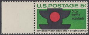 USA Michel 888 / Scott 1272 postfrisch EINZELMARKE RAND links - Verkehrssicherheit: Verkehrsampel