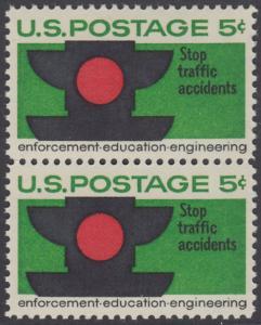 USA Michel 888 / Scott 1272 postfrisch vert.PAAR - Verkehrssicherheit: Verkehrsampel