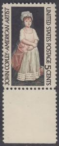 USA Michel 889 / Scott 1273 postfrisch EINZELMARKE RAND unten - John Singleton Copley, Maler