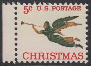 USA Michel 892 / Scott 1276 postfrisch EINZELMARKE RAND links - Weihnachten, Erzengel Gabriel