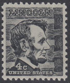 USA Michel 893 / Scott 1282 postfrisch EINZELMARKE - Berühmte Amerikaner: Abraham Lincoln, 16. Präsident
