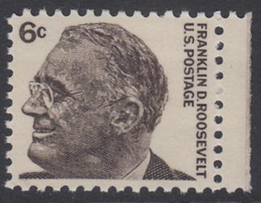 USA Michel 894 / Scott 1284 postfrisch EINZELMARKE RAND rechts - Berühmte Amerikaner: Franklin Delano Roosevelt, 32. Präsident