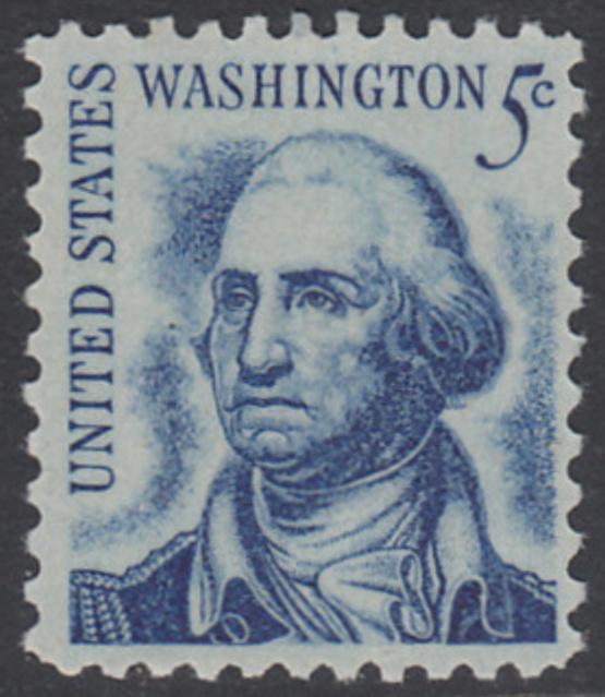 USA Michel 895 / Scott 1283 postfrisch EINZELMARKE - Berühmte Amerikaner: George Washington, 1. Präsident
