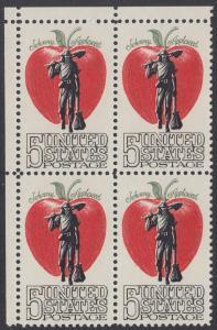 USA Michel 908 / Scott 1317 postfrisch BLOCK ECKRAND oben links - Amerikanische Folklore: Johnny Appleseed