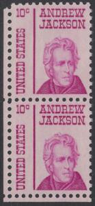USA Michel 917 / Scott 1286 postfrisch vert.PAAR ECKRAND unten links - Berühmte Amerikaner: Andrew Jackson, 7. Präsident