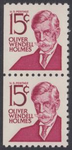 USA Michel 944D / Scott 1288B postfrisch vert.PAAR aus MH (links ungezähnt) - Berühmte Amerikaner: Oliver Wendell Holmes, Jurist und Rechtsphilosoph