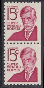 USA Michel 944D / Scott 1288B postfrisch vert.PAAR aus MH (rechts ungezähnt) - Berühmte Amerikaner: Oliver Wendell Holmes, Jurist und Rechtsphilosoph