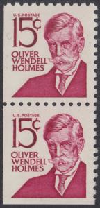 USA Michel 944D / Scott 1288B postfrisch vert.PAAR aus MH (links/unten ungezähnt) - Berühmte Amerikaner: Oliver Wendell Holmes, Jurist und Rechtsphilosoph