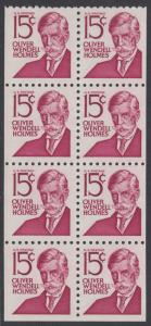 USA Michel 944D / Scott 1288B postfrisch MH-BLATT(8) - Berühmte Amerikaner: Oliver Wendell Holmes, Jurist und Rechtsphilosoph