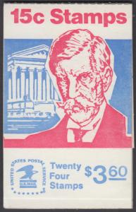 USA Michel 944D / Scott 1288B postfrisch MARKENHEFT(24) - Berühmte Amerikaner: Oliver Wendell Holmes, Jurist und Rechtsphilosoph