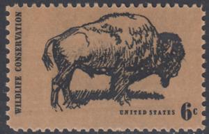 USA Michel 1004 / Scott 1392 postfrisch EINZELMARKE - Naturschutz: Bison