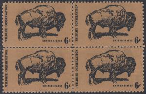 USA Michel 1004 / Scott 1392 postfrisch BLOCK - Naturschutz: Bison