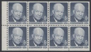 USA Michel 1005C / Scott 1393a postfrisch MH-BLATT(8) - Berühmte Amerikaner: Dwight David Eisenhower, 34. Präsident
