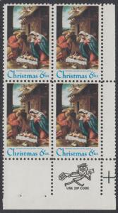 USA Michel 1016 / Scott 1414 postfrisch ZIP-BLOCK (lr) - Weihnachten: Die Geburt Christi